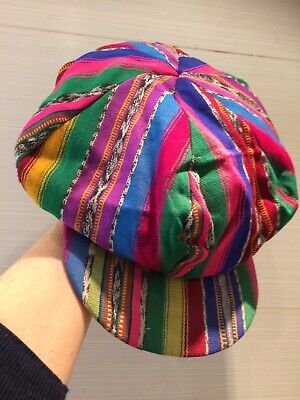 Vintage Guatemalan Hat Cap Mid 20th Century Guatemala Reversible Handwoven