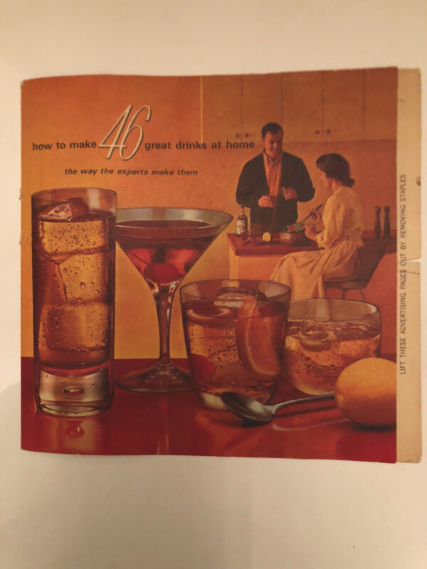 Vintage How To Make 46 Great Drinks At Home Recipes Booklet Southern Comfort