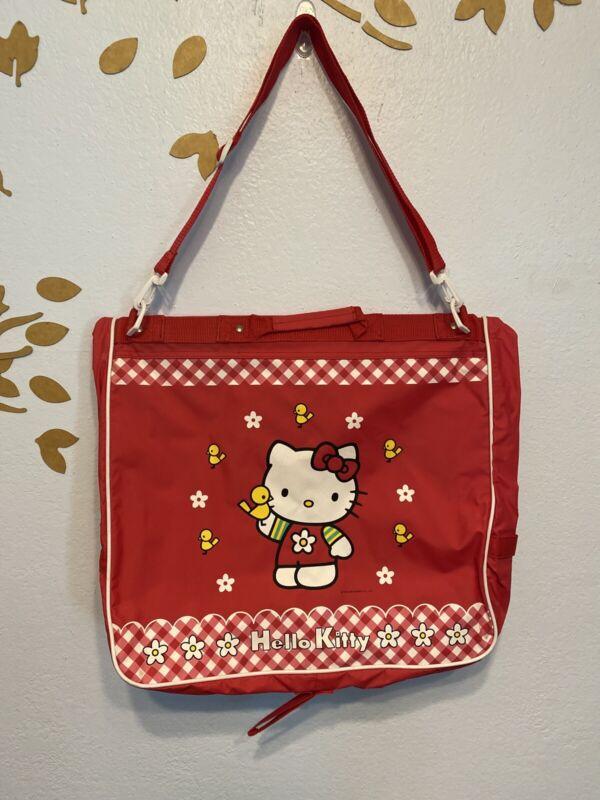 Vintage Sanrio Hello Kitty Red Garment Bag Travel Bag Suitcase 1999