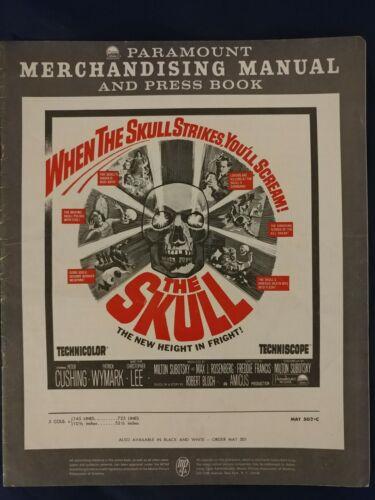 THE SKULL pressbook, Peter Cushing, Christopher Lee, Patrick Wymark HORROR