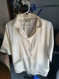 Yves Saint Laurent womens satin shirt