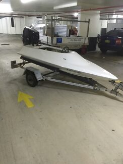 8ft wing boat mini speed boat junior race boat (neg) Caringbah Sutherland Area Preview