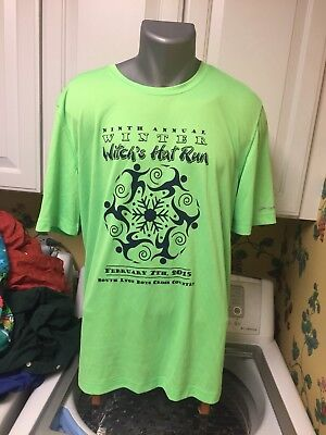 Brooks Equilibrium Technology Men's XL Green Witch's Hat Brewery Winter Run - Witches Hat Run