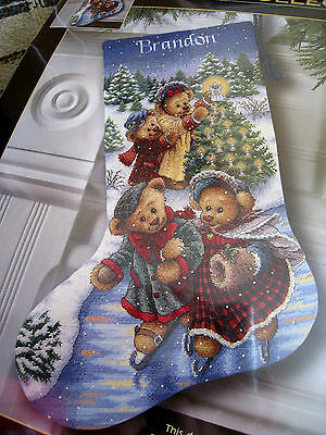 Christmas Dimensions GOLD Counted Cross Stocking Craft KIT,VICTORIAN BEARS,8753