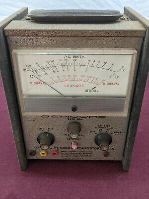 Vintage Sencore Tr-139 Dynamic In-circuit Transistor Tester Untested