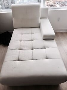 Chaise couch sofa white QUICK SALE by Friday