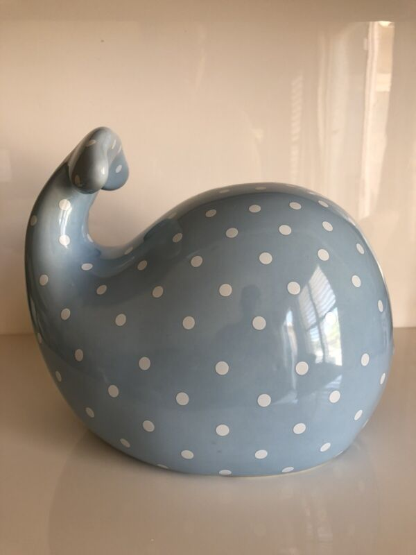 Adorable Ceramic Pottery Barn Kids Whale Coin Bank