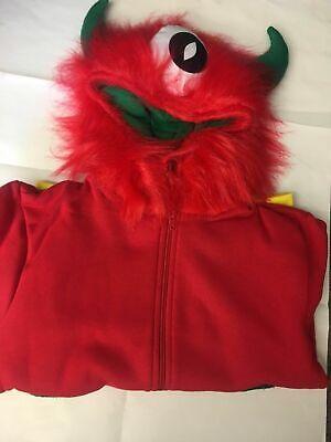 zzy One-Eyed Monster Hoodie  (Fuzzy Monster Kostüm)