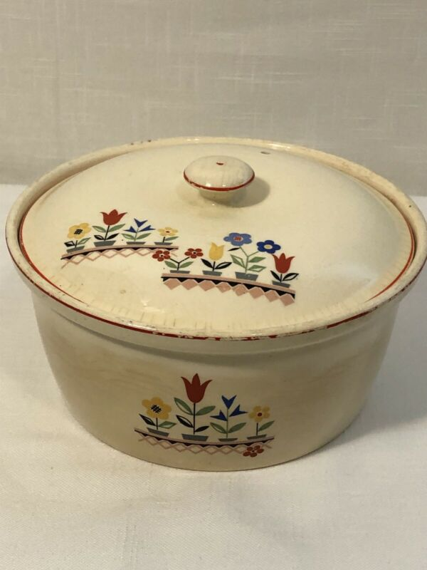 Vintage Paden City (P.C.P. Co) Oven Proof BAK-SERV Baking Dish Bowl w/Lid