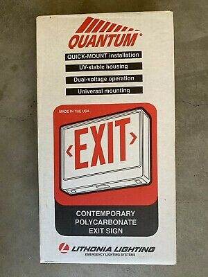 Brand New Lithonia 120277 Emergency Exit