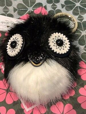 Penguin Keychain ( Kate Spade Dashing Beauty Penguin Pouf Keychain Key Charm Fob New $78~TOO)