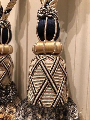 £50 Pair New Large Egyptian Curtain Tie Backs Plus £4 Post