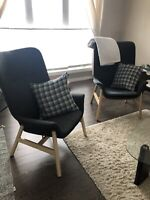 We have two IKEA chairs in excellent condition for sale.