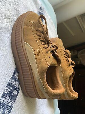 Puma Fenty x Rihanna Cleated Creeper Suede Womens Platform Shoes Brown