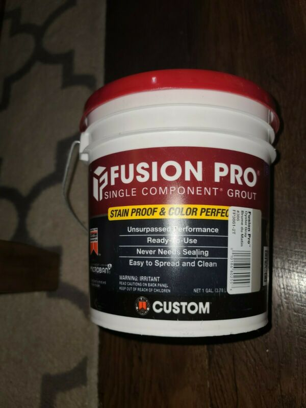 NEW Custom Fusion Pro Single Component Grout FP3861-2T #386 OYSTER GRAY 1 Gallon