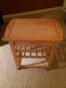 Solid wood island/cart for kitchen or bar