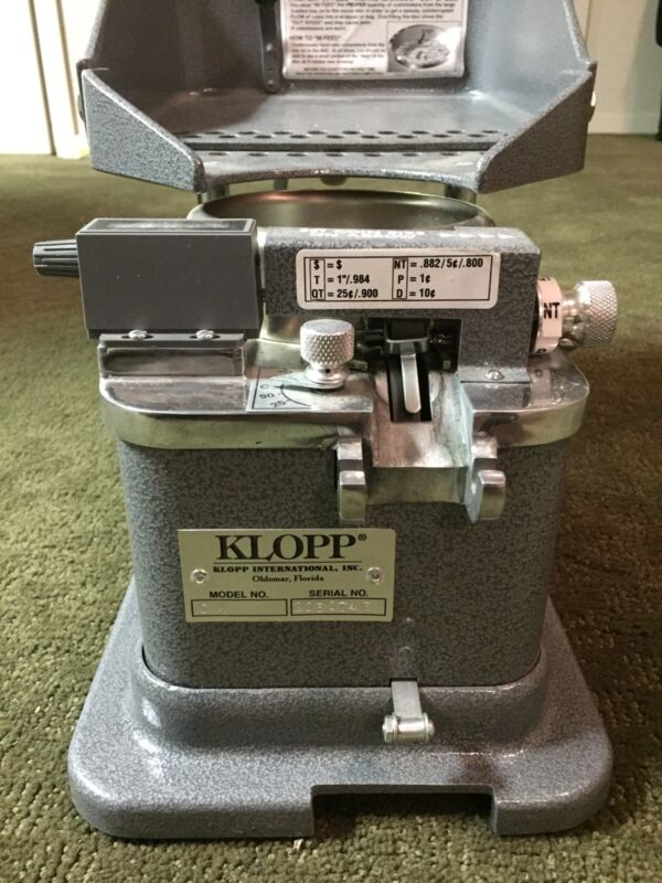 KLOPP Model CM Manual Counter/Wrapper/Bagger
