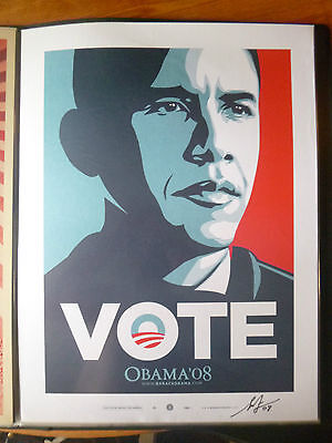 Shepard Fairey (OBEY) OBAMA VOTE orig. Siebdruck, Sign., dat. RARITÄT!!!