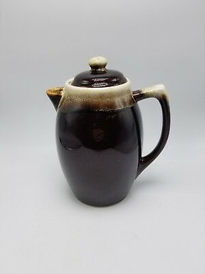 """Pfaltzgraff """"Gourmet Brown Drip"""" Carafe / Coffee Pot Number 490 With Lid"""
