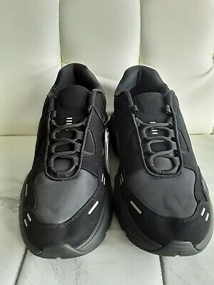 NEW Zara Man Z-2 Trainers Black  Sneakers Sz US10 EU 43 Athletic Shoes