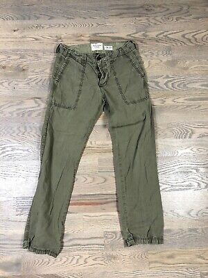 Vintage Abercrombie And Fitch Military Cargo Pants Green 30x32 Distressed