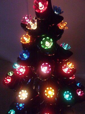 50 Medium Flower-Lites Bulbs For Ceramic Christmas tree
