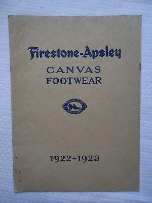 1922-1923 Firestone Apsley Canvas Footwear Berkshire Shoe Co Pittsfield Mass Ma