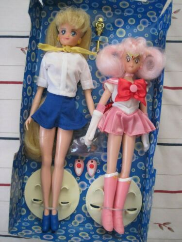 "2001 SAILOR MOON DOLL - SERENA AND SAILOR MINIMOON 11-1/2"" ADVENTURE ..New!!"