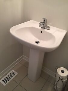 Sink with stand and faucet