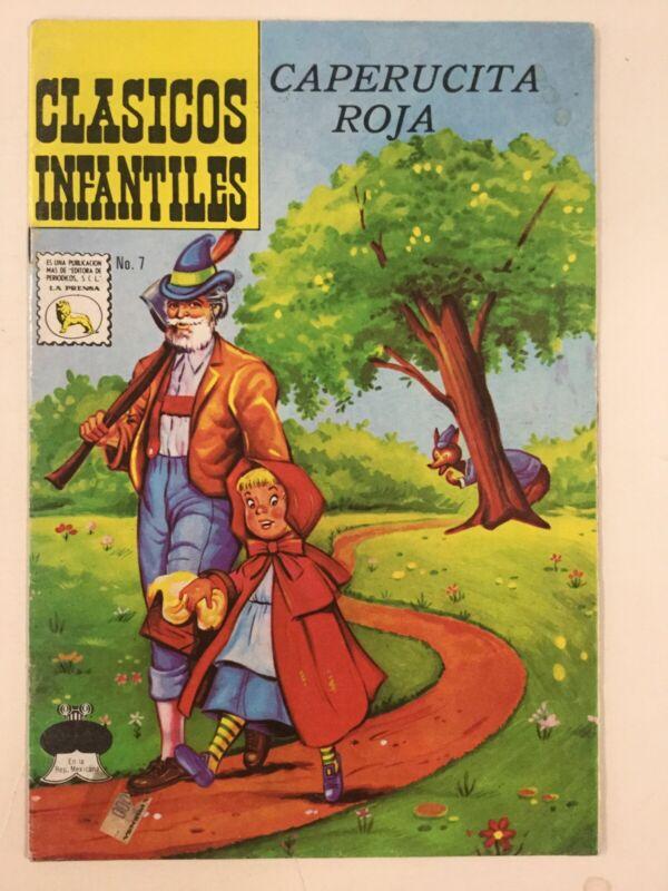 1974 SPANISH COMICS CLASICOS INFANTILES #7 LA CAPERUCITA ROJA LA PRENSA MEXICO