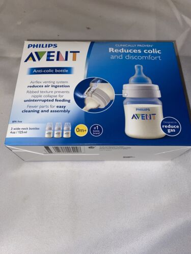 Philips Avent 4 Ounce 3 Pack Anti-Colic Baby Bottle - Clear