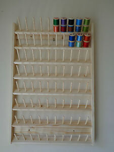 Cotton reel holder Wall Mounted holds 80 reels 3x7 cm