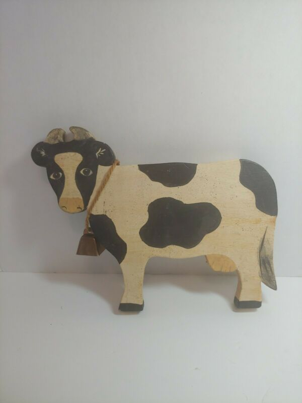 Spear Wood Cow Figure