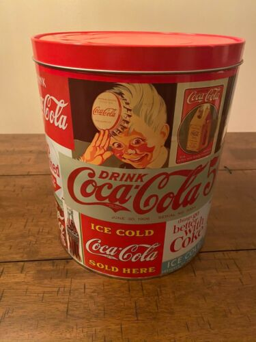 Large Vintage Coca Cola Collectible Tin Container 1989 Very Good Condition