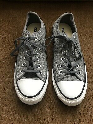 Converse All Star Unisex Men's Size 6 Women's Size 8 Gray Mesh Athletic Mesh Slippers