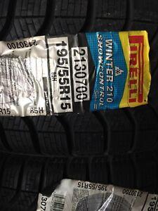 195/55/15 Pirelli Winter Tires New