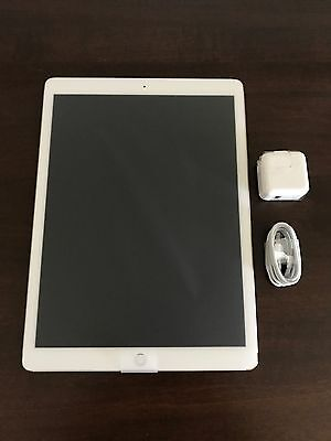 "New Apple iPad Pro 12.9"" 128GB Wi-Fi + Cellular Factory Unlocked Silver 1st Gen"