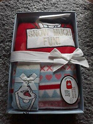 Primark Damen Schlafanzug Neu M40/42 Fleece Frozen Olaf Elsa Set pyjama disney 2