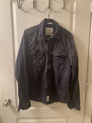 abercrombie fitch Button Down jacket Military M65 Field Jacket XL Pre Owned