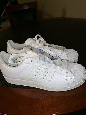 e8ac721be8a3 New ADIDAS Originals Men s Superstar II Foundation Sneaker White B27136  Size 10