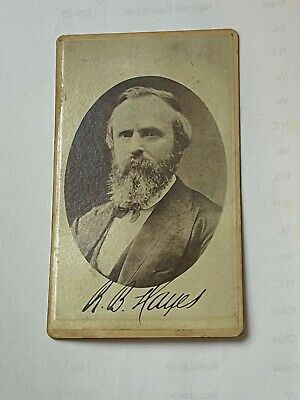 President Rutherford B. Hayes CDV image photo signed - rare