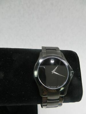 Movado Black Stainless Steel Museum Dial Men's Watch 84 G2 1855.A with 8.5
