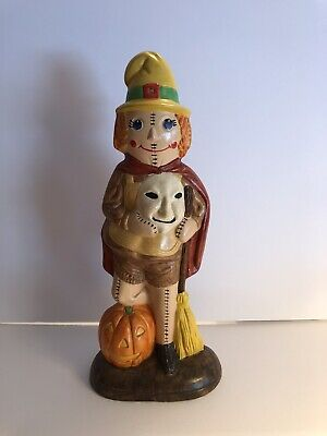 Vintage Halloween Hand Painted Ceramic trick or treater #78