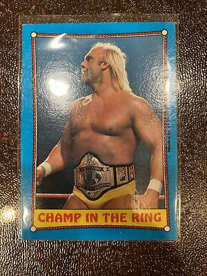 Hulk Hogan Champ In The Ring WWF Topps 1987 Titan Sports Card