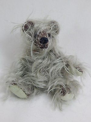 "World Of Miniature Bears Dollhouse  4"" Mohair Pellet Bear #5062 Mint Chip"