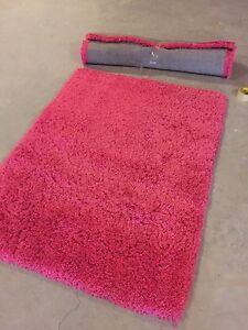 2 fuscia hot pink area rugs