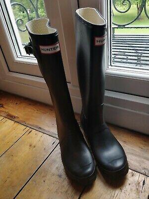 Hunter Boots Original Black Tall UK 5 Wellies Wellingtons