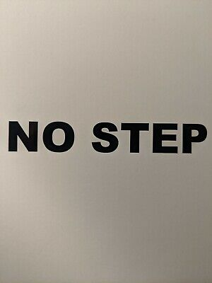 Set Of 5 No Step Sticker Decals For Heavy Duty Construction Equipment.