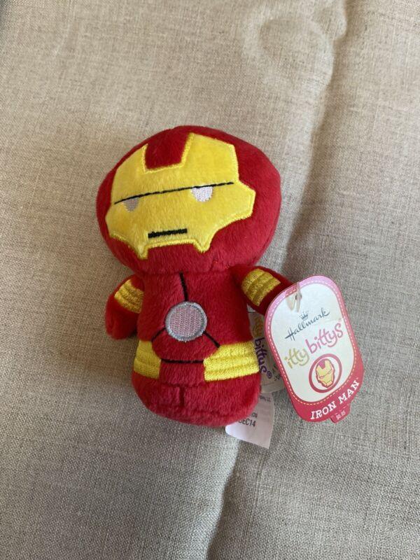 """Hallmark ittybittys Iron Man Marvel 4.5"""" beanbag plush NWT"""
