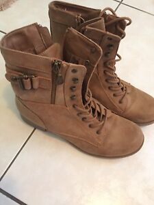 new genuine leather tan boots from Guess